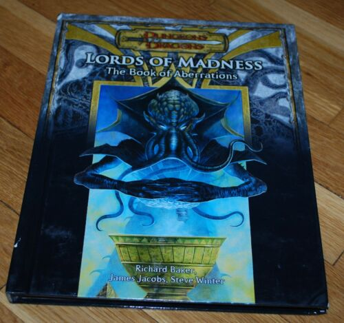 D&D Lords of Madness The Book of Aberrations D20 3.5