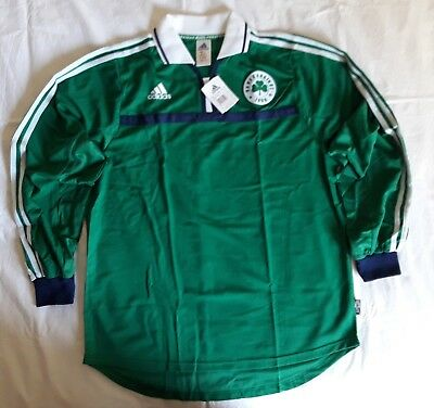 Panathinaikos 2001 2002 home football shirt soccer jersey, Adidas, Size L, BNWT image