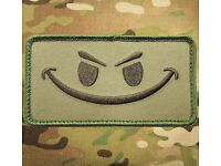 EVIL SMILE FUN 5 X10 MORALE KLETT AUFNÄHER PATCH AIRSOFT PAINTBALL ARMY FASHION