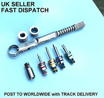 Dental Implant Torque Wrench 10-40ncm Ratchet Extender 4 X Screw Drivers