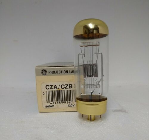 GE CZA/CZB 120V 500 PROJECTOR  BULB NEW OLD STOCK