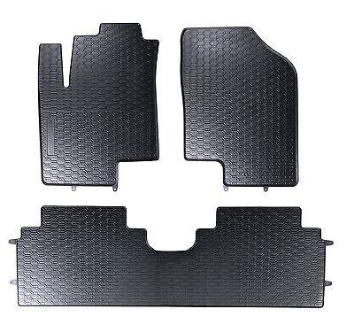 Kia Venga YN Minivan Premium Auto Fußmatte Gummimatte Matte Beige