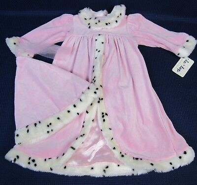Le Top Girls Dress Halloween Costume Pink Princess Queen Dalmatian Faux Fur