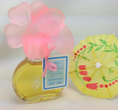 Vintage DeLagar Flower Fair Perfume Bottle Pink Floral Figural 1 Fl oz 1986
