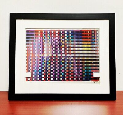 """Yaacov AGAM Original Agamograph """"Birthday Rainbow""""  Signed, Numbered & Framed for sale  Passaic"""