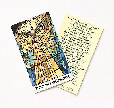 HOLY SPIRIT / PRAYER FOR ENLIGHTENMENT Prayer Card - Wallet / Purse Size