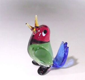 Glastier Glastiere großer Vogel mehrfarbig Glasvogel Lauscha Top Qualität