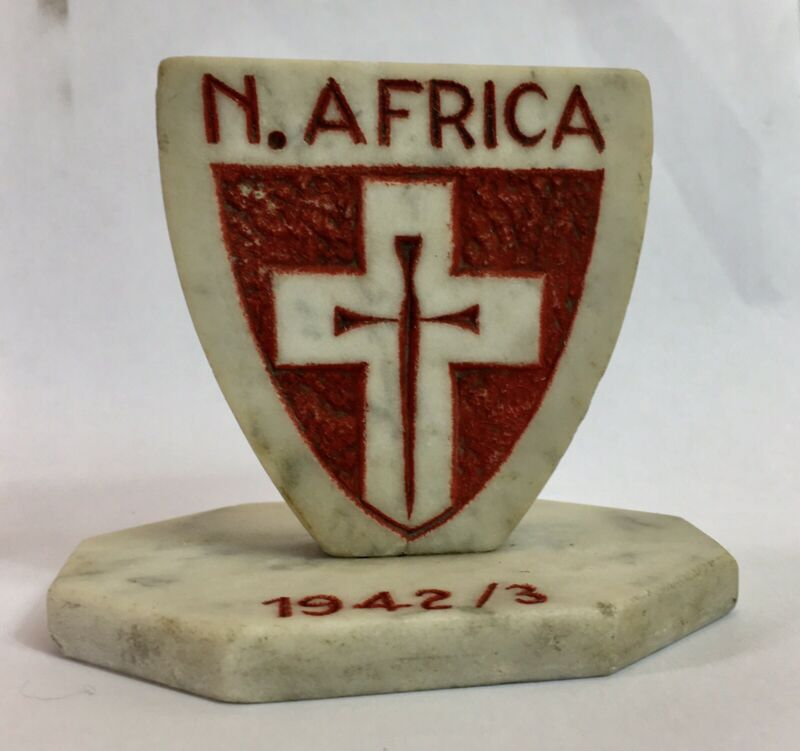 Vintage WW2, Ist Army (Formation badge) Africa, 1942/3 Shield Desk Stand