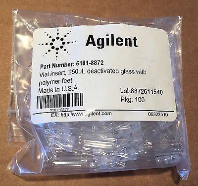 Agilent Autosampler Vial Insert 250 L Deact. Glass Polymer Feet 5181-8872