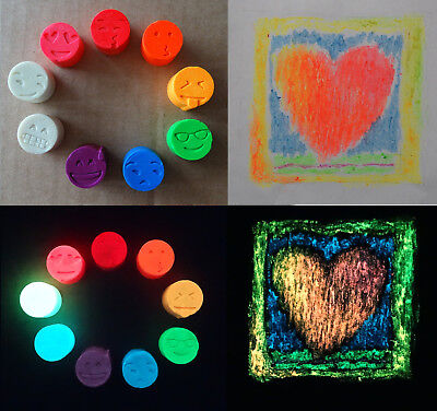 Swiss Blauregen Glow in the dark Crayon - 9 Colour Set  - Glow In The Dark Crayons