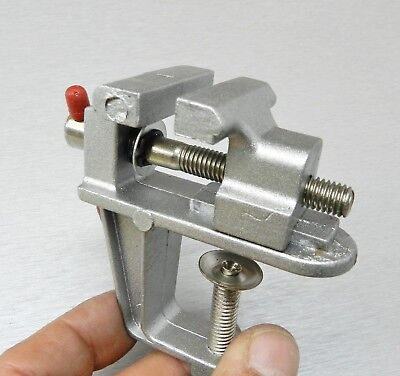 Mini Vise Aluminum Bench Swivel Clamp On Bench Miniature Vise Jewelers Hobby