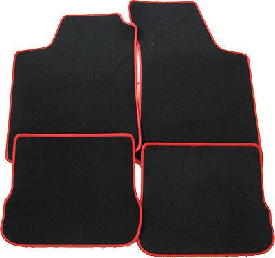 mit Halter Fußmatten rot für VW Scirocco 4tlg Bj.08