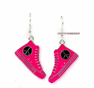 PEACE-SIGN-CND-CANVAS-CONVERSE-BOOTS-SHOES-FUNKY-ENAMEL-DROP-EARRINGS-GIFT-XMAS
