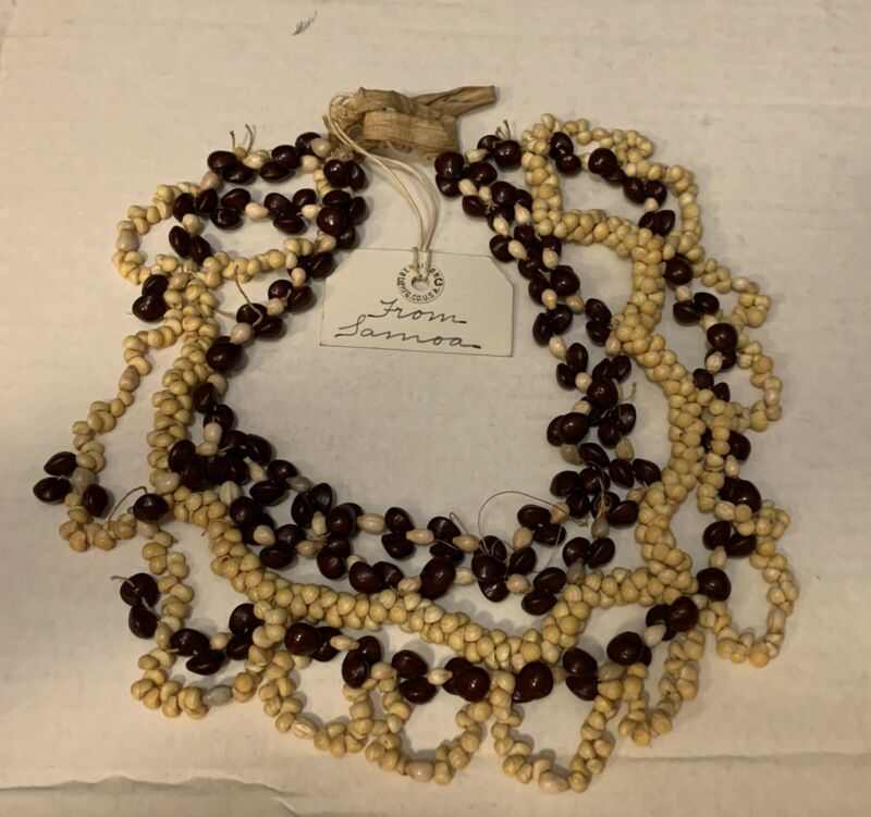RARE Antique 19th Century Samoa Shell Necklace, BUY IT NOW
