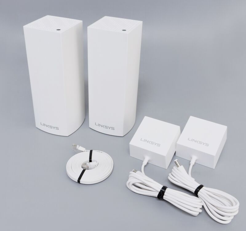 Linksys Velop WHW0302 Whole Home Wi-Fi System 2-Pack - White