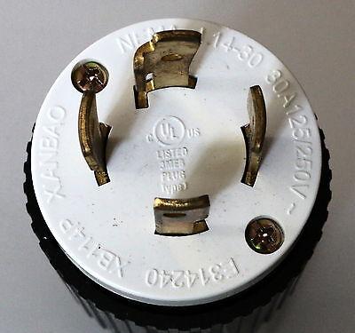 NEMA-L14-30 UL Listed Locking Generator Plug 30A 125/250V (L14-30P)