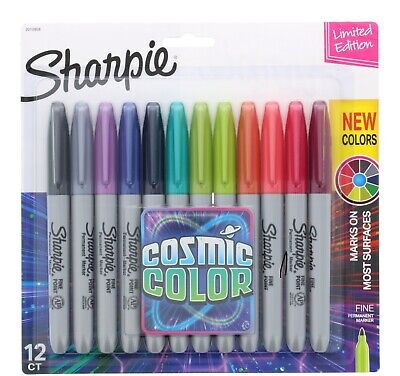 12 Cosmic Color Sharpie Permanent Marker Pens Limited Edition Lavender Grey Pink