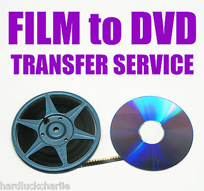 "REGULAR 8mm, SUPER 8mm FILM TO DVD OR DIGITAL FILES TRANSFER - ""A"" OPTION"