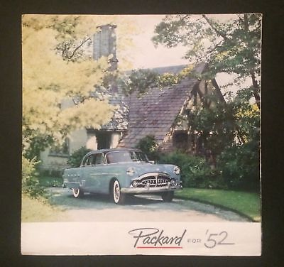 Vintage Sales Brochure 1952 Packard Car Deluxe Classic Car Original Foldout for sale  Ambler