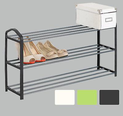 3 Ebene Schuhablage Schuhregal Ständer Ragal für 12 Paare aus Metallrohr #511