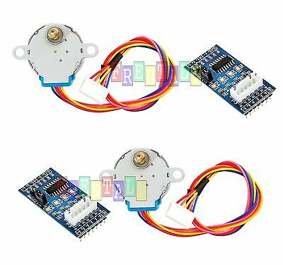 2pcs Dc 5v Stepper Motor 28byj-48 Uln2003 Driver Test Module Board For Arduino