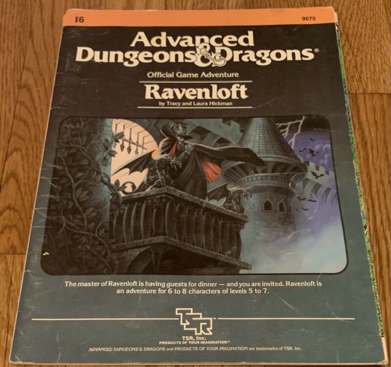 TSR Advanced Dungeons & Dragons Ravenloft I6 Module 9075 1983 AD&D
