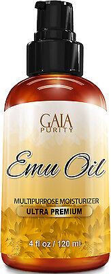 Emu Oil 100% Pure - Large 4oz - Best Natural Oil For Face, Skin,