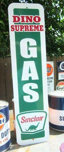 SINCLAIR DINO SUPREME GAS SIGN SERVICE STATION  PREMIUM GASOLINE OIL