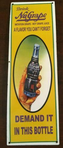 NuGrape Soda Enamel Sign Vintage