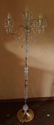 Stehlampe Kronleuchter Lüster Kristall Glas Höhe 143 cm - 4-flammig