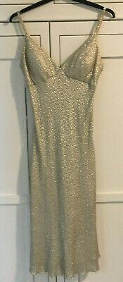 Jenny Packham Dress - Workshop Sample Silver Spaghetti Strap - Size 6/8