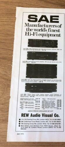 "(STG)Apr1978 Pg1777 Advert11x4"" SAE - Manufacture World"