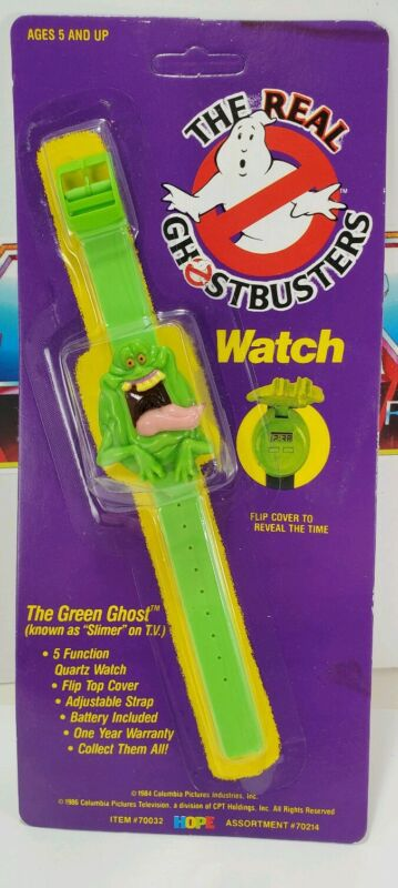 Vintage THE REAL GHOSTBUSTERS WATCH SLIMER MINT ON CARD SEALED
