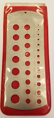Spi Drill Gage Steel Fractional Size 116 - 12 - 29 Holes Usa 6b-h0001