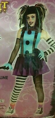 Halloween Costumes For Girl Tweens (CRAZY CLOWN Halloween Cosplay Costume Girls Tween 12-14 NEW HARLEY PUNK)