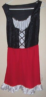 womens NEW NWOT RED RIDING HOOD HALLOWEEN COSTUME 1 PC DRESS one size fits most