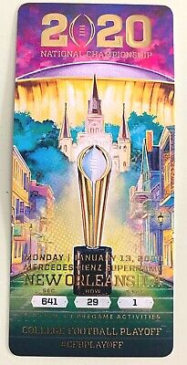 2020 CFP National Championship Authentic Game Day Ticket LSU Tigers! -