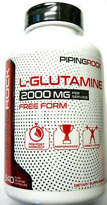 L Glutamine 2000Mg Per Serving Free Form 240 Pills Capsules