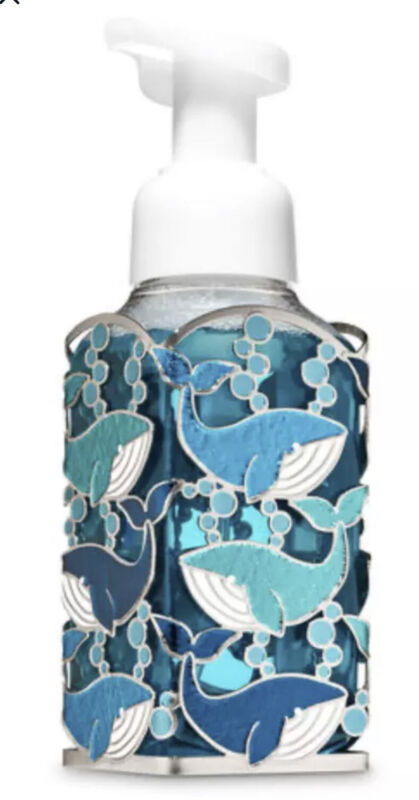 BATH & BODY WORKS WHALE BUBBLES SOAP HOLDER FOR GENTLE FOAMING HAND SOAP NEW!