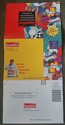 1995 Joe Namath Sportsline Com Advertising Mailer Netcom Nfl New York Jets Rare
