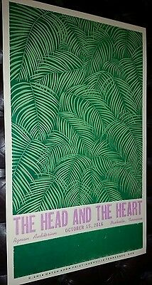 THE HEAD AND THE HEART Ryman Nashville HATCH SHOW PRINT Concert Poster Tour 2016