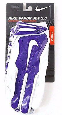 Nike Football Adult Vapor Jet 3.0 Skill Glove Magnigrip Purple White Size XL