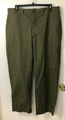 US Army M1943 Field Pants M43 Trousers Large 42x32 1948 Dated Late WW2 Pattern