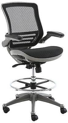 Harwick Evolve All Mesh Heavy Duty Drafting Chair In Gunmetal Finish 2250d-bk