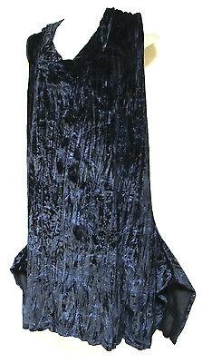 TS Top TAKING SHAPE plus sz XXS (12) velour Black Storm Tunic soft draping NWT!