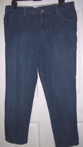 Gloria Vanderbilt Amanda Stretch Women's Blue Denim Jeans Size 16 Short