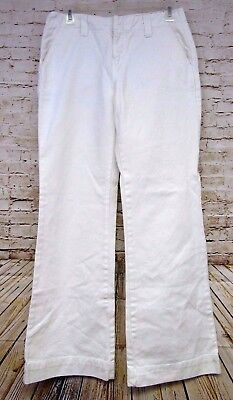 Tommy Hilfiger Womens White Trouser Pants Size 4 Comfort Waist Band 100% Cotton