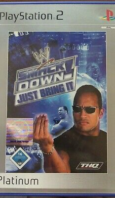 WWE SmackDown: Just Bring It (Sony PlayStation 2, 2001, DVD-Box)