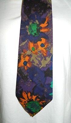 1960s – 70s Men's Ties | Skinny Ties, Slim Ties VTG 1960's Custom Made Blue Green Floral Pattern Men's Classic Wide Neck Tie $10.00 AT vintagedancer.com