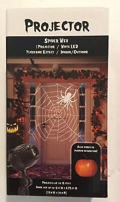 Spider Web Projector For Halloween - 5' By 4.75' Projection - Free - Halloween Spider Webbing